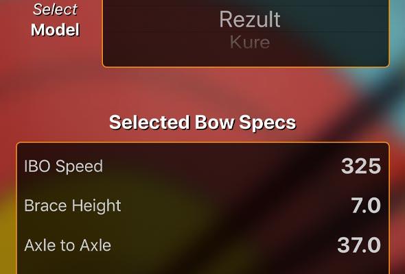 bow specs database